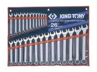 Набор рожково-накидных (комбинированных) ключей 26ед. (6-32) KING TONY