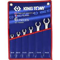 Набор ключей разрезных (силовых) 8-22мм. 6 ед. KING TONY