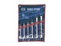 Набор накидных ключей (кольцевых) 10-26мм. 6ед. (угол 45°). KING TONY