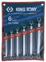 Набор накидных ключей (кольцевых) 6-17мм. 6ед. (угол 75°). KING TONY