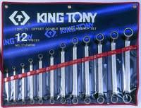 Набор накидных ключей (кольцевых) 6-32мм. 12ед. (угол 75°). KING TONY