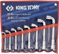 Набор ключей торцевых Г-образных 8-19мм. 8ед. KING TONY