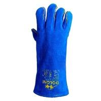 Перчатки для сварочных работ Долони 4508 (синие), 10-й размер