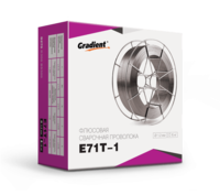 Проволока сварочная флюсовая E71T-1 Ø 0,8мм (1,0кг) Gradient