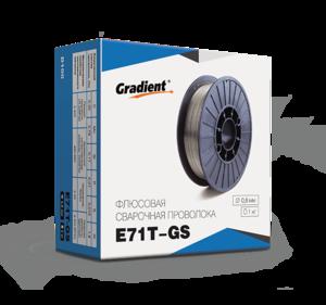 Проволока сварочная флюсовая самозащитная E71T-GS Ø 0,8мм (1,0кг) Gradient