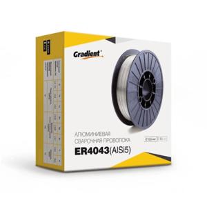 Проволока сварочная для алюминия на полуавтомат Gradient ER4043 (AlSi5) 0.8 (0.5кг)