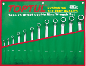 Набор накидных ключей (кольцевых) 6-32мм. 12ед. (угол 75°) TOPTUL