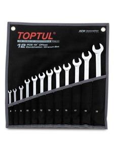Набор рожково-накидных (комбинированных) ключей 12ед. (6-22) TOPTUL