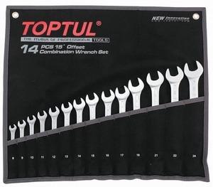 Набор рожково-накидных (комбинированных) ключей 14ед. (8-24) TOPTUL