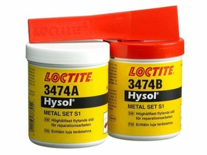 LOCTITE EA 3474 - 2-компонентный эпоксидный состав с металлическим наполнителем, износостойкий (шпатлевка), 500 г