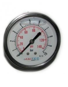 Манометр виброустойчивый осевой 0 - 6 bar Ø63мм MAITEC