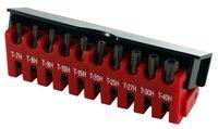 Набор бит TORX с отверстием Force 10 ед. TH7-TH40 хвостовик 1/4 21012TF