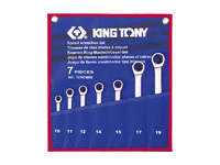 Набор рожково-накидных ключей с трещоткой 7 ед. 12107MRN KING TONY