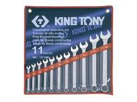 Набор рожково-накидных (комбинированных) ключей 11ед. (8-24) KING TONY