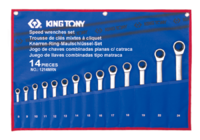 Набор рожково-накидных ключей с трещоткой 14 ед. 12114MRN KING TONY