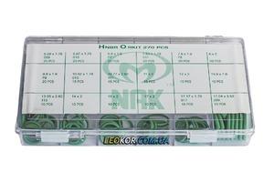 Набор колец фреоностойких HNBR для кондиционеров круглого сечения 270 шт